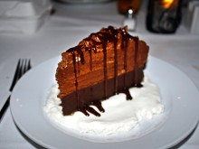 Chocolate truffle cake is just one of many decadent dessert choices.