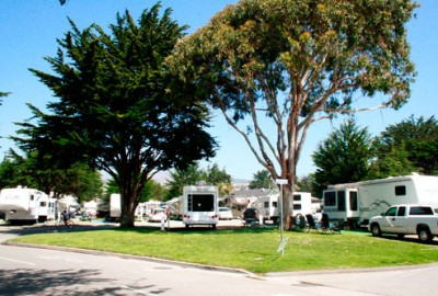 The Pismo Coast Village RV Resort clubhouse, arcade, and restaurant are among the many amenities at this popular destination.
