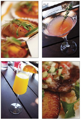 Latin-inspired food and cocktails are featured on the menu.
