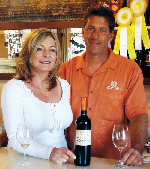 Angela and Darren Mitchell, owners of Mitchella Vineyard and Winery.