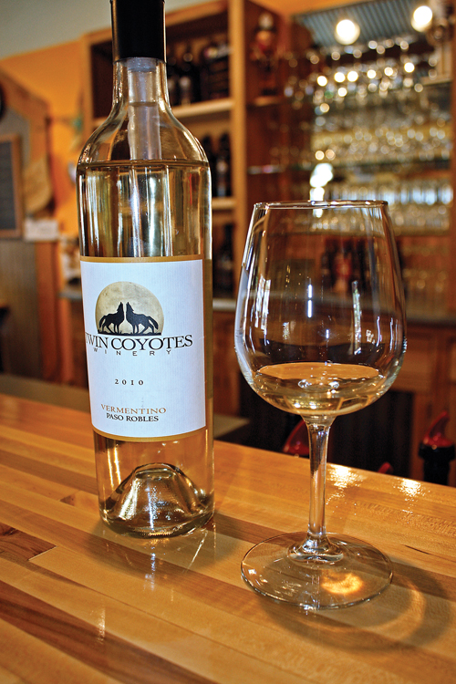 Twin Coyotes'  Vermentino wine.