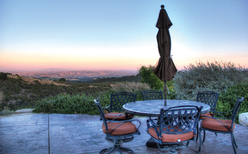 The tasting room at Calcareous Vineyards boasts some of the finest views in Paso Robles.