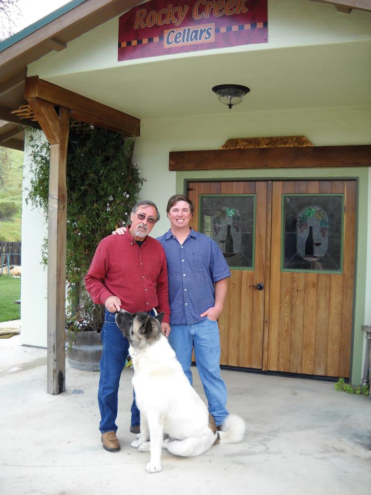 John and Dustin Somogyi at their tasting room.