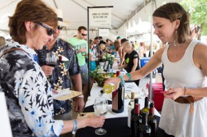 Maggie Cameron pours selections from Justin Vineyards and Winery