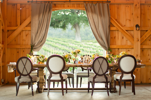 The post and beam barn is a beautiful setting for weddings and events.