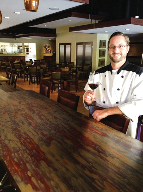 Executive chef Ryan Swarthout crafted his menu drawing on inspiration acquired by his many years of living and working in Paso Robles.