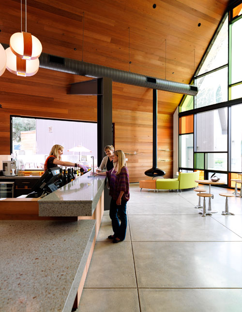 Shale Oak Winery achieved Gold LEED Certification for its eco-friendly design.