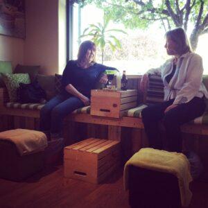 Foot soak at Vino+Therapy