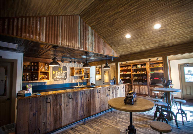 A view of the interior of the Cholame tasting room.