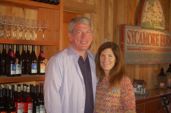 Steve and Jackie Gleason in their tasting room.