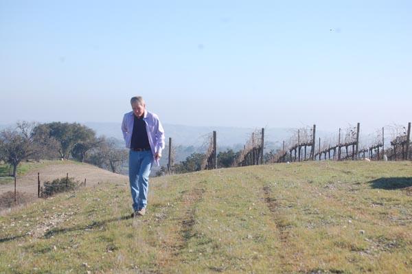 Steve Gleason walks along the top terrace. Photo by Paula McCambridge.
