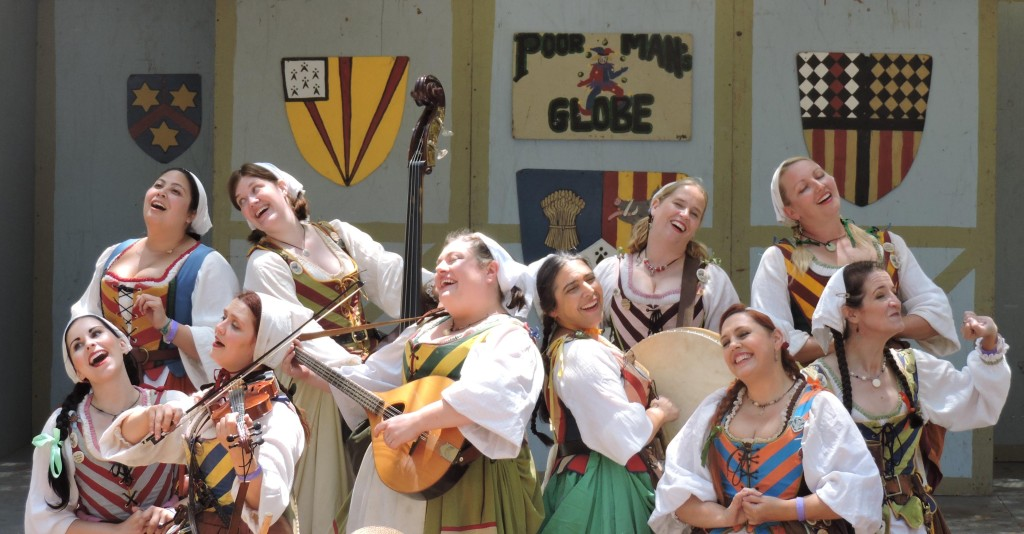The Merry Wives of Windsor perform at the San Luis Obispo Renaissance Festival.