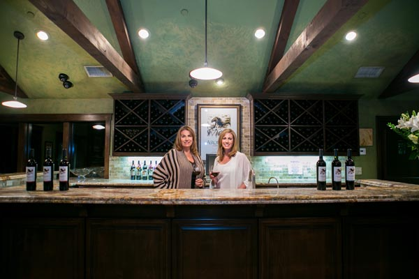 Judy Aron and her daughter Kathryn in their tasting room