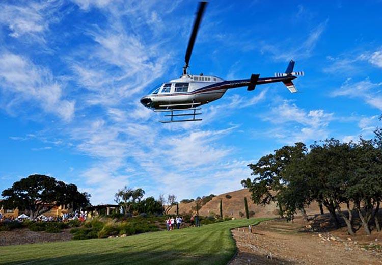 Villa San Juliette Vineyard Now Offering Helicopter Tours
