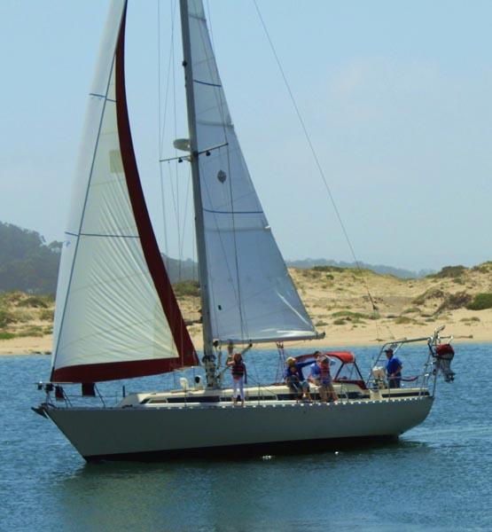 Kids taking sailing lessons