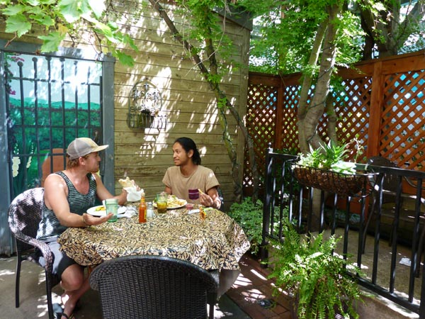 Odyssey World offers comfortable indoor and outdoor seating.