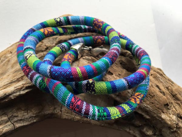 Among the varied offerings at the gallery are items such as these bracelets designed by artist Kari Appleton.