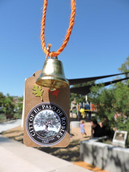Commemorative bells were given out to attendees of the ceremony.