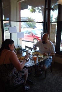 Dora and Joe Robles from Santa Maria discovered Vic's Cafe after a local recommended it to them last year, and during their week long camping trip to the fair, they returned to enjoy delicious food and great service.